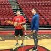 """Runnin' Rebels Surprised by Forrest Griffin with """"Top Stopper"""" Belt"""