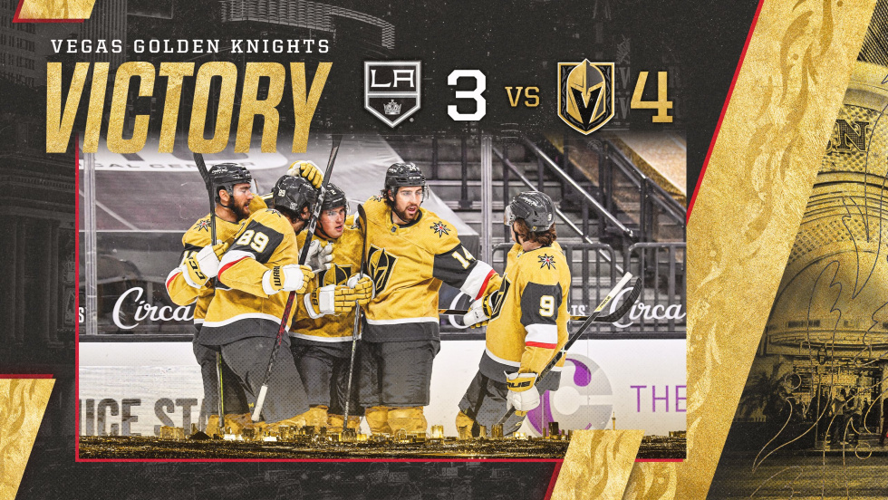 Knights Trade Shots With Kings In Early Afternoon Victory Defeating LA 4-3.