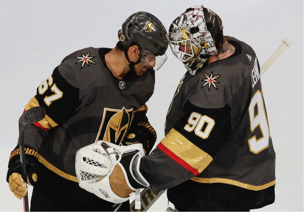 Lehner Backstops Golden Knights in Dominant Win over Chicago