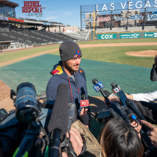 Kris Bryant Hosts Live Batting Practice at LV Ballpark